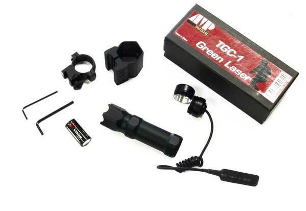 AMP Tactical Compact Green Laser Kit w/ Mount and Pressure Switch