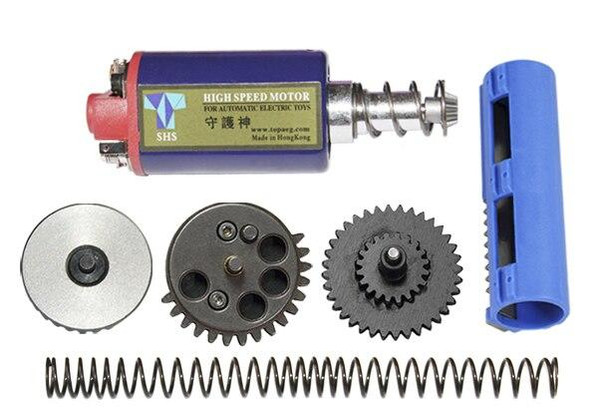 SHS High Speed Tune Up Kit w/ Motor, 131 Gear Set, Piston, and M120 Spring