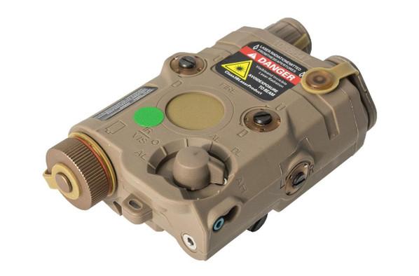 Bravo P15 Flashlight and Green Laser PEQ Box, Tan