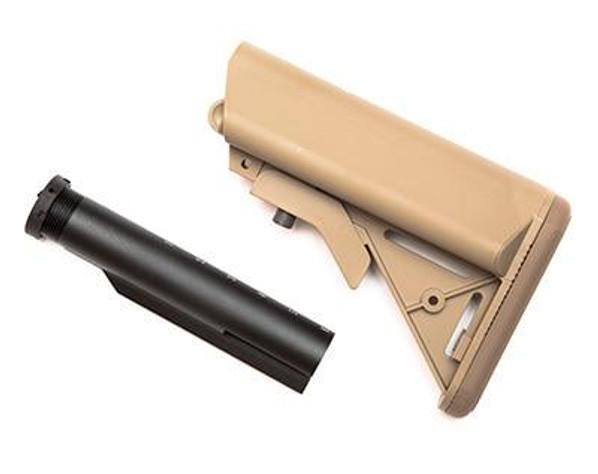 GandG Extended Battery Crane Stock and Buffer Tube Kit, Tan