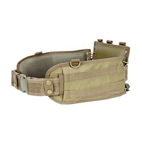 NC STAR VISM MOLLE Padded Battle Belt, Tan