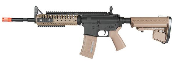 AandK M4 CASV RIS Full Metal Airsoft Rifle, Two-Tone Black and Tan