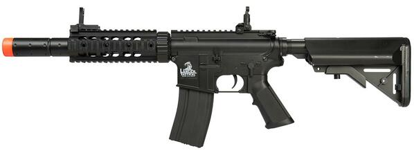 Lancer Tactical M4 SD Airsoft AEG Rifle with Integrated Mock Suppressor