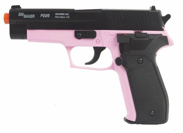 SIG Sauer P226 Spring Airsoft Pistol, Pink/Black