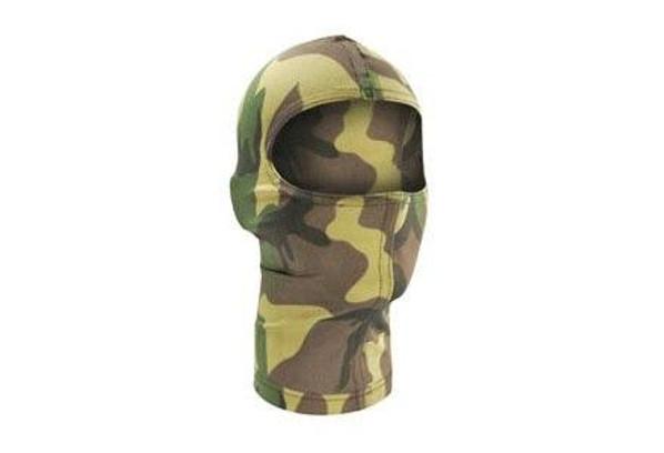 Zan Headgear Tactical Balaclava Nylon Woodland Camo Airsoft