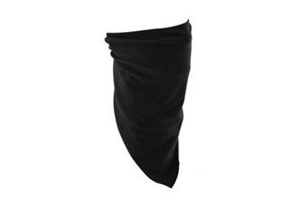Zan Headgear Tactical 3-IN-1 Bandanna Bamboo/Cotton Black Airsoft