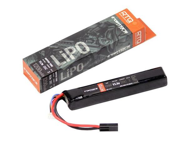 Raptors Airsoft RTQ Lipo 1200Mah 11.1v 20c Mini Airsoft Gun Battery AEG
