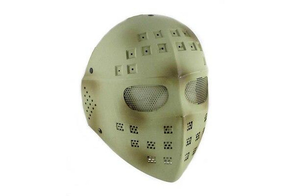 Airsoft Full Face Mask Desert Camo Hockey Killer Mask Steel Stamped Eyes