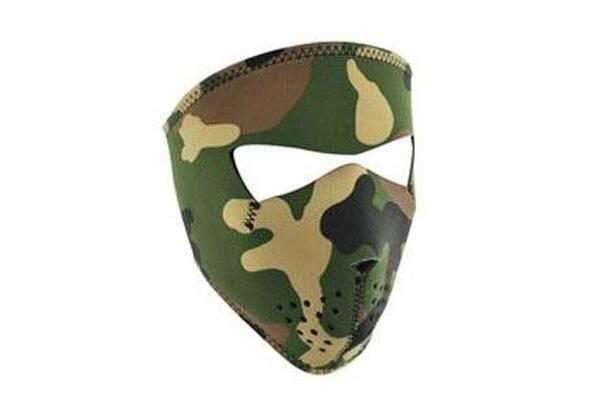 Zan Headgear Tactical Full Mask Neoprene Small Woodland Camo Airsoft