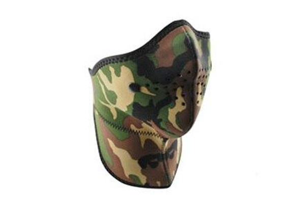 Zan Headgear Tactical Neo-X Face Mask Removable Filter and Neck Shield Woodland Camo Airsoft