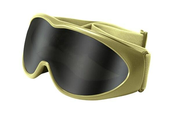 GXG Deluxe Airsoft Goggles Tan Frame Smoke Lens Protective Goggle