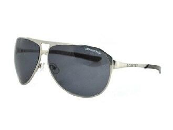 Bobster Tactical Eyewear Snitch Aviator Sunglass Matte Silver Frame Smoked