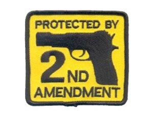 Raptors Tactical 3 2nd Amendment Yellow Patch Iron On