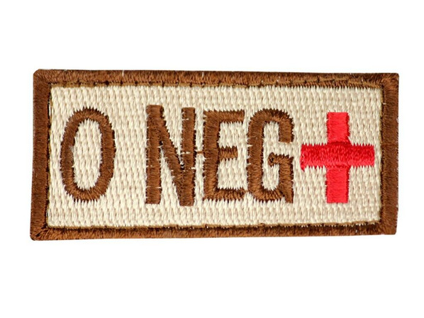 Raptors Tactical 1.5 Blood Type O NEG Velcro Patch