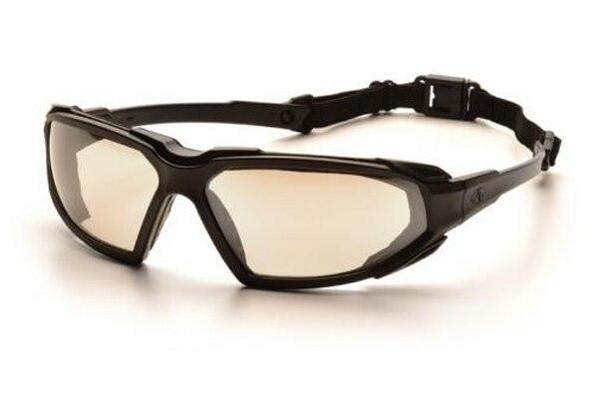 Pyramex Highlander Airsoft Goggles Indoor/Outdoor Mirror Anti-Fog Lens Black Frame Glasses Lenses