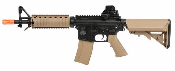 Colt M4A1 CQBR RIS AEG Airsoft Rifle, Tan/Black