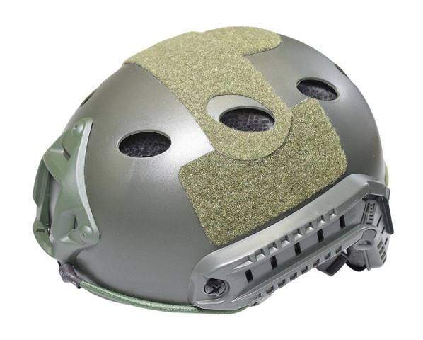 Raptors Airsoft RTV PJ Tactical Airsoft SpecOps Military Style Helmet with Rails, OD Green