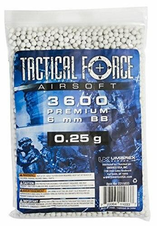 Tactical Force 0.25g 3600 ct Bag, White