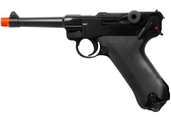 "WE Luger P08 4"" Gas Blowback Metal Airsoft Pistol"