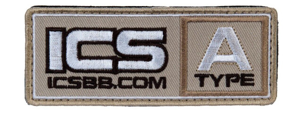 ICS Tan Blood Type Patch 1.5x4 - Type A