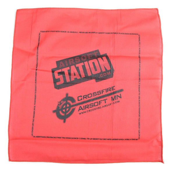 Airsoft Station and Crossfire Airsoft Dead Rag, Red/Black