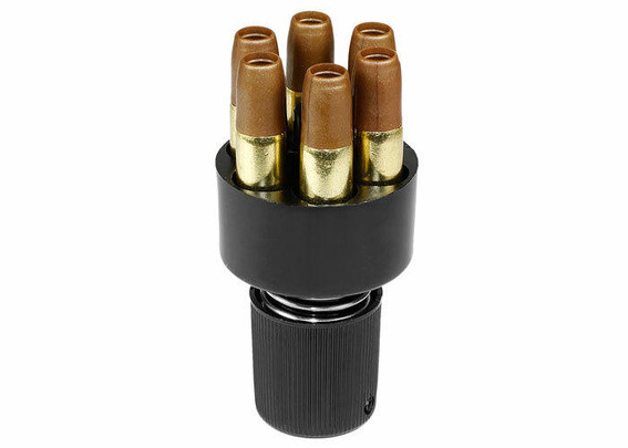 BB Speedloader and Airsoft Revolver Shells For WG and Dan Wesson CO2 Revolvers, 6 Shells