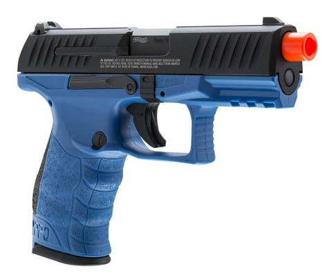 Walther PPQ Gas Blowback Airsoft Pistol - Blue Law Enforcement Edition