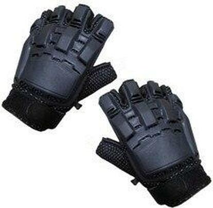 Half Finger Armored Gloves, Black