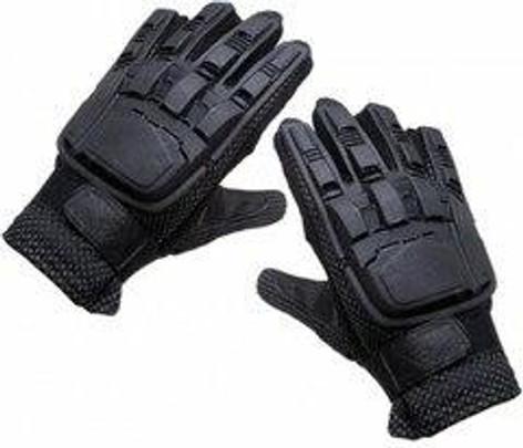 Full Finger Armored Gloves, Black