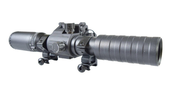 Spartan 3-9x32 Variable Zoom Illuminated Scope with Integrated Laser