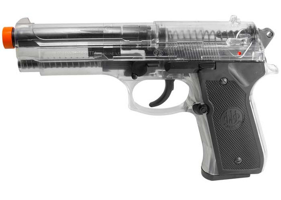 Beretta 92 FS Spring Airsoft Pistol, Clear