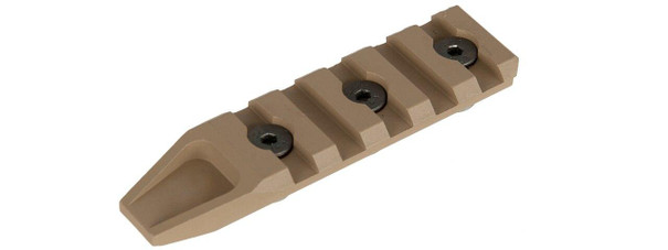 5 Slot Metal Keymod Rail Section, Tan