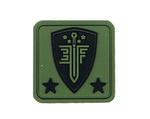 Elite Force 1x1 PVC Velcro Patch, OD Green