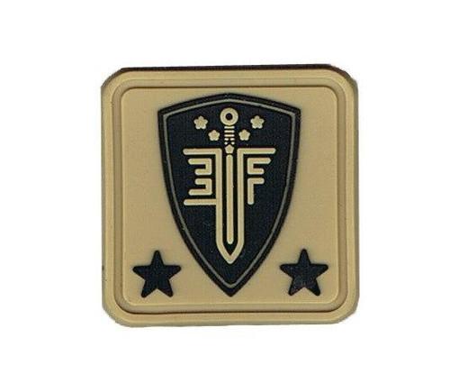 Elite Force 1x1 PVC Velcro Patch, Tan