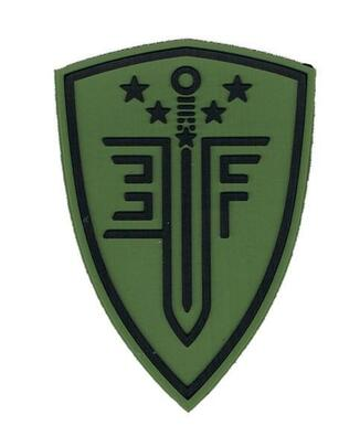 Elite Force Shield PVC Velcro Patch, OD Green