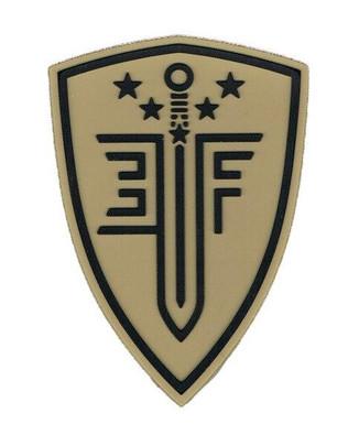 Elite Force Shield PVC Velcro Patch, Tan