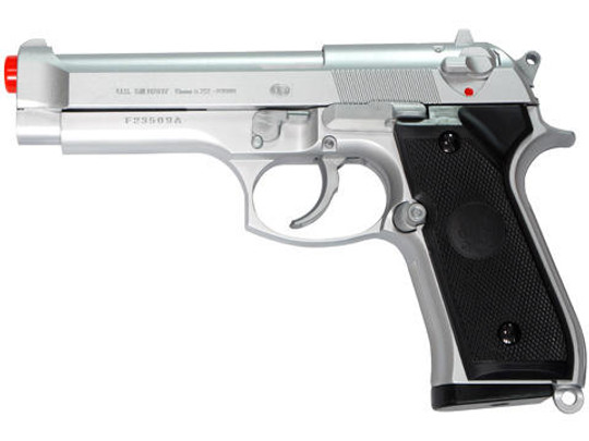 M9 Style Spring Airsoft Pistol - Silver by UHC