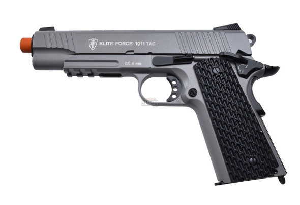 Elite Force 1911 TAC Blowback CO2 Airsoft Pistol, Gunmetal Grey, Full Metal
