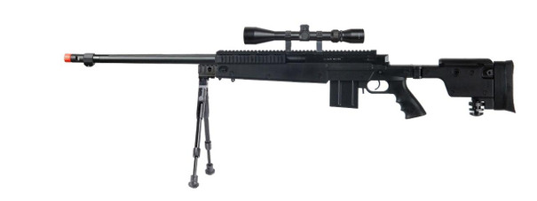 Well Bolt Action Sniper Rifle Kit with Folding Stock, Bipod, and 3-9x Scope