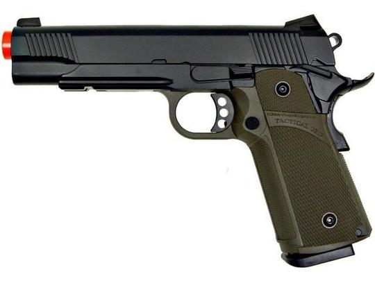 KJW Tactical 191 Full Metal Semi Auto Gas/CO2 Pistol - Two Tone Green/Black