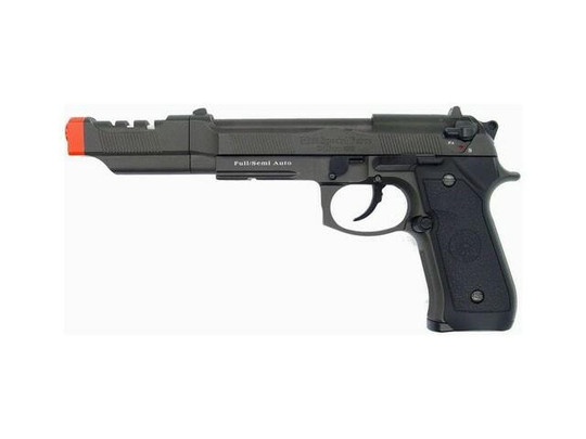 HFC M9 Full Metal Semi Auto Gas Blowback Pistol with Compensator and Aluminum Carry Case
