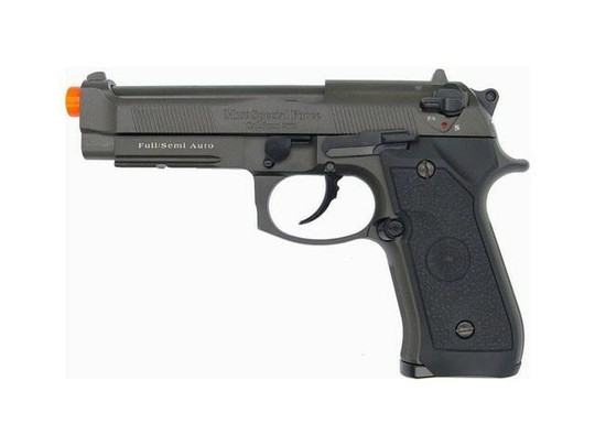 HFC M9 Full Metal Semi/Full Auto Gas Blowback Pistol with Carry Case