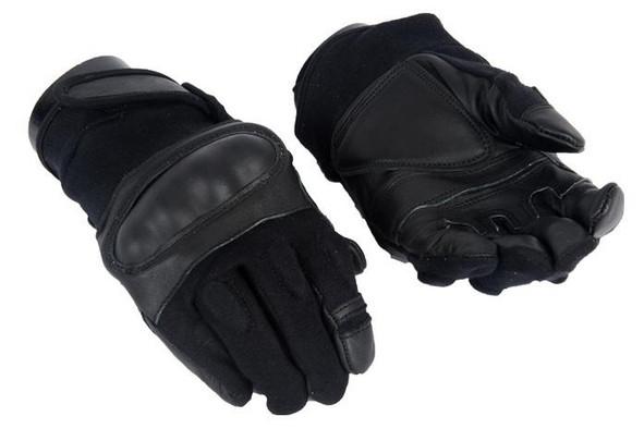 Black Hard Knuckle Gloves