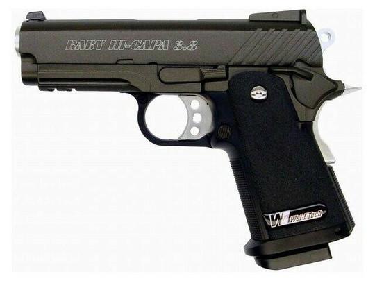 WE Baby Hi-Capa V2 Full Metal Semi Auto Gas/CO2 Blowback Airsoft Pistol