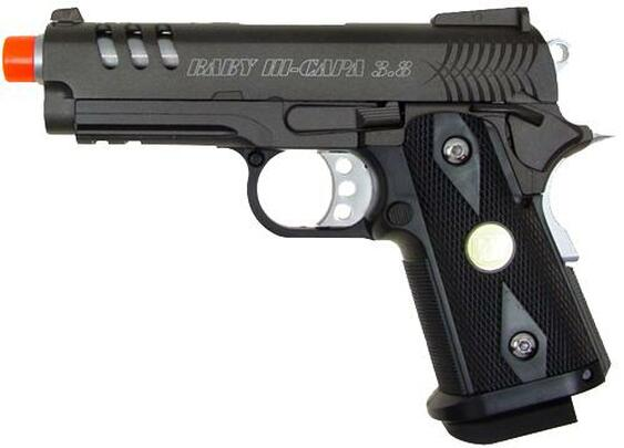 WE Baby Hi-Capa V3 Full Metal Semi Auto Gas/CO2 Blowback Airsoft Pistol