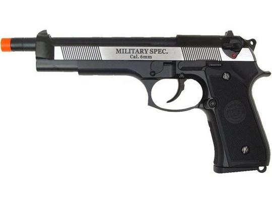 WE M92 Long Barreled Full Metal Semi Auto Gas/CO2 Blowback Pistol