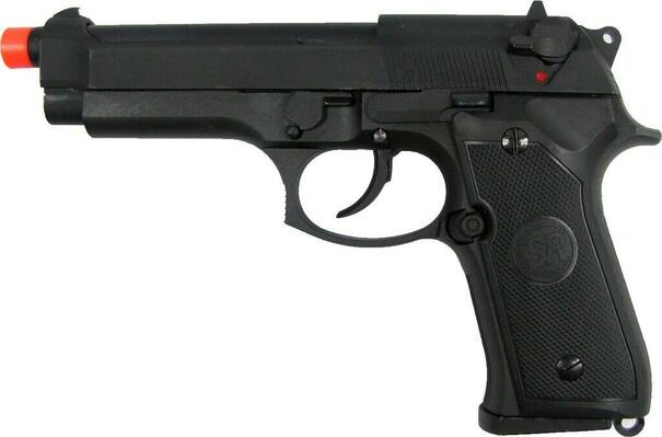 SRC M9 Metal Slide Semi Auto Gas/CO2 Blowback Pistol with Carry Case