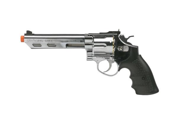 HFC HG-133 Savaging Bull 6 Barrel Gas Revolver, Silver