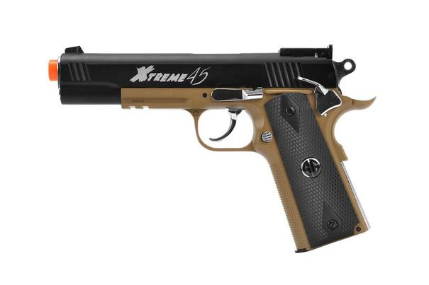 GandG Xtreme 45 CO2 Blowback Airsoft Pistol, Tan