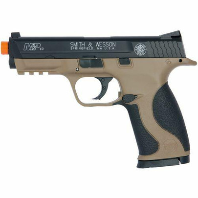 Smith and Wesson MandP 40 CO2 Airsoft Pistol, Black/Tan